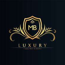 MB Letter Initial With Royal T...