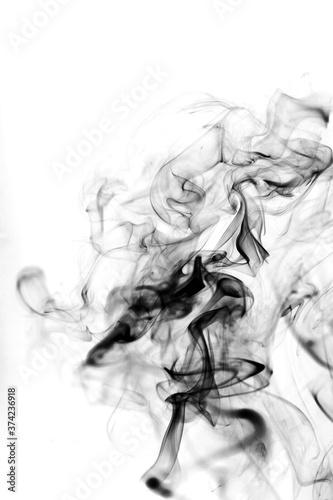 Fototapety, obrazy: Smoke toxic movement on a white background.