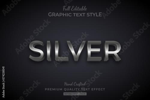 Fotografija Silver Elegant 3D Text Style Effect Premium
