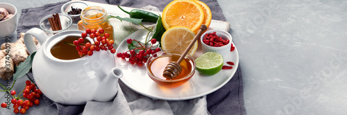 Homemade remedy for cold and flu Fotobehang