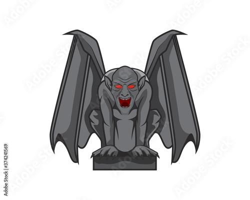 Photo Detailed Gargoyle with Sitting Pose Illustration