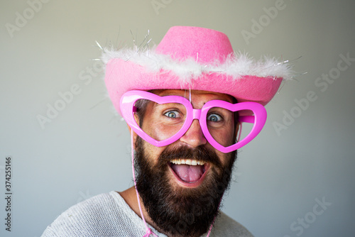 Fotomural Happy man smile face