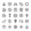 Project Management Line Icons