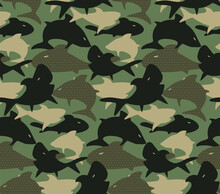 Seamless Camouflage Army Patte...