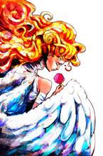 Cute Angel Girl With Lush Hair...
