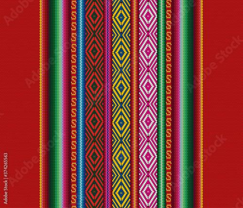 Valokuvatapetti Blanket stripes seamless vector pattern