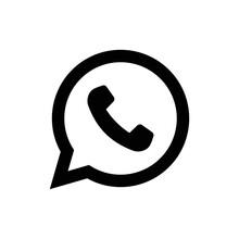 Phone Handset Icon In Speech Bubble