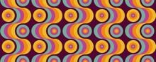 70's Retro Seamless Wallpaper Pattern Material / Vector Illustration