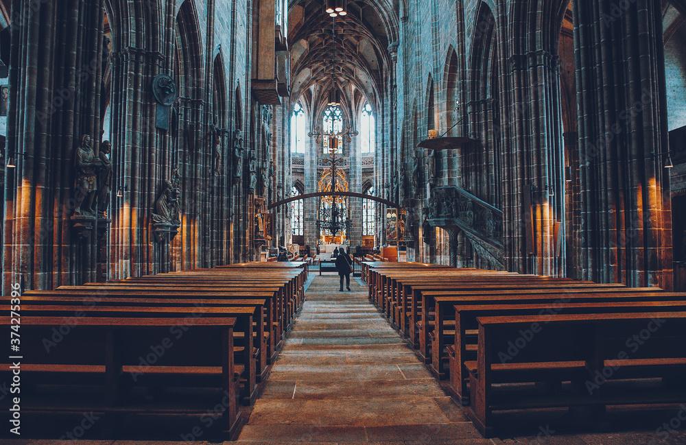 Fototapeta Church in Nuremberg city