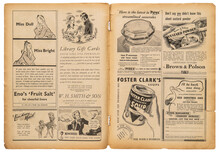Newspaper Page English Text Vintage Advertising Pictures