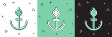 Set Anchor Icon Isolated On Wh...