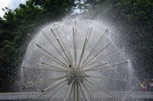 Fountain Ball. Water Jets In T...