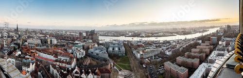 Foto Hamburg Panorama vom Michel