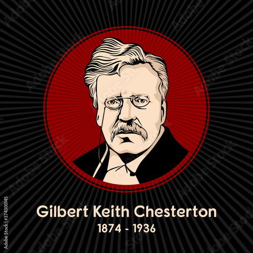 Obraz na plátne Gilbert Keith Chesterton (1874 - 1936) was an English writer, philosopher, lay theologian, and literary and art critic