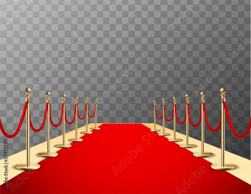 Canvastavla Red Carpet Realistic Colored Composition
