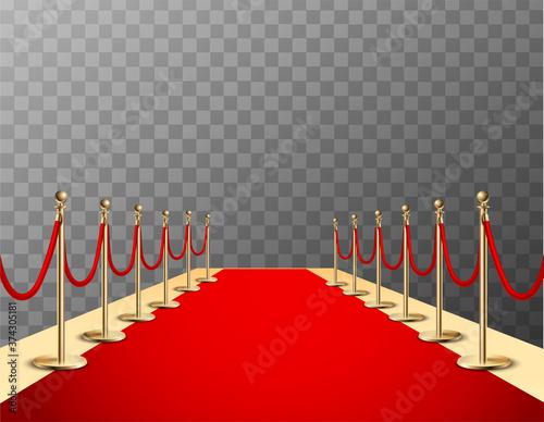 Cuadros en Lienzo Red Carpet Realistic Colored Composition