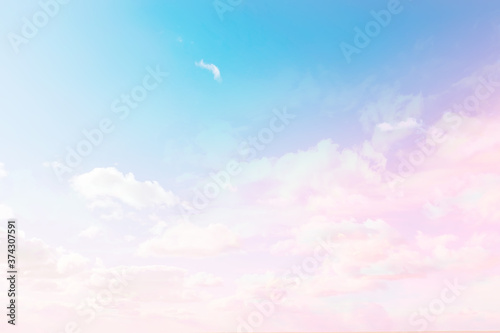 clouds watercolor tint, pink clouds gradient background sky, atmosphere air free Canvas Print