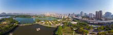 Wuhan Zoo Park Aerial Scenery ...