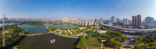 Tablou Canvas Wuhan Zoo Park Aerial Scenery in summer, Hubei, China