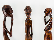 Three African Statuettes Of Me...