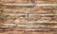 Horizontal Brown Natural Wooden Planks Background Texture