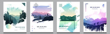 Vector Brochure Cards Set. Tra...