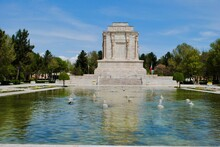 The Exterior With Pond Of Tomb Of Ferdowsi, The Renowned Persian Poet From 10th Century. Mashhad Iran