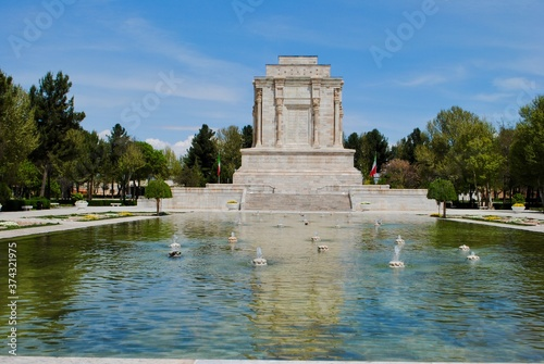 Fototapeta The exterior with pond of tomb of Ferdowsi, the renowned Persian poet from 10th century
