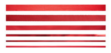 A Set Of Straight Red Ribbons ...