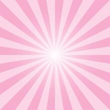 Pink Sunburst Background Desig...
