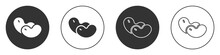 Black Beans Icon Isolated On W...