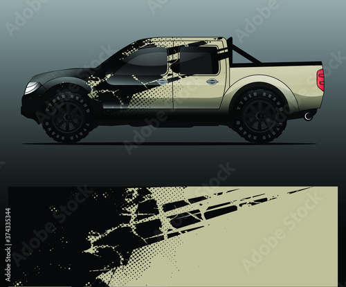 Tablou Canvas truck and vehicle Graphic vector