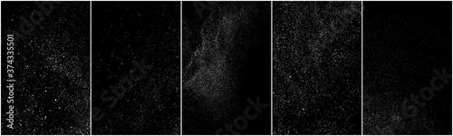 Photo Set of distressed white grainy texture