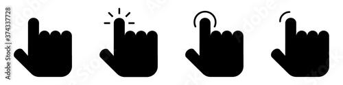 Obraz na plátně Conjunto de iconos de cursor de varios diseños