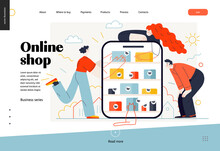Business Topics -online Shoppi...