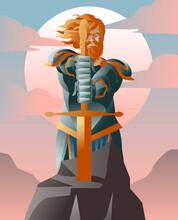 King Arthur Medieval Knight Wi...