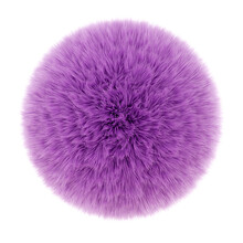 Round Lilac Rug With A Long Pi...