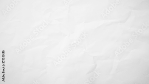Foto white crumpled paper texture background.