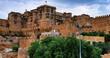 Jaisalmer, India - August 2020: Facade of the Jaisalmer Fort Palace on August 20, 2020 in Jaisalmer, Rajasthan, India.
