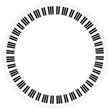 Abstract Piano Keys