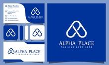 Monogram A Alpha Pin Place Log...
