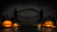 Cemetery Front Entrance Gate W...