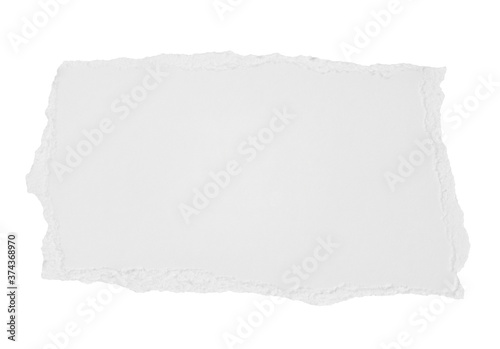 Fotografiet white paper ripped message torn note paper label background crumpled