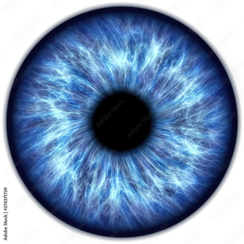 Fototapeta Illustration of a human iris. Digital artwork creative graphic design.