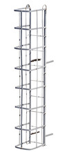 Iron Ladder On A White