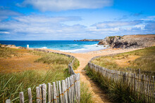 Cotes Sauvage, Wild Coast At The Quiberon Peninsula In Brittany, France