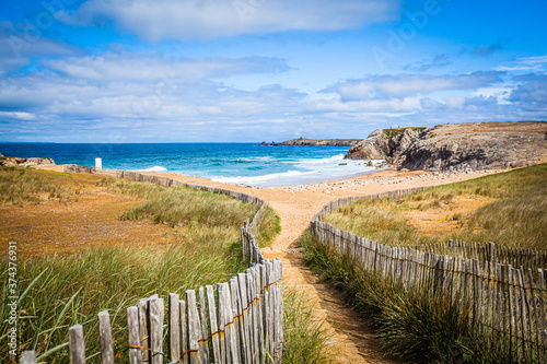 Cotes Sauvage, wild coast at the Quiberon peninsula in Brittany, France Fotobehang