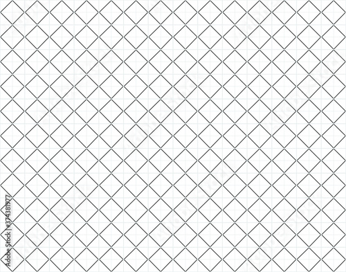 Seamless linear black and silver pattern of rectangles or squares Fototapet