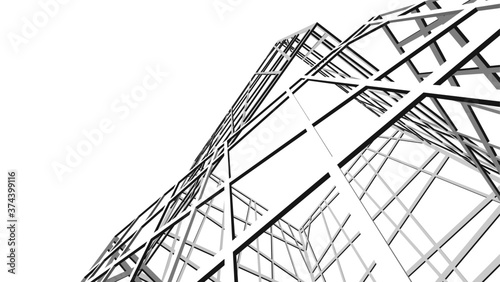 structure building construction. Industrial background Canvas Print