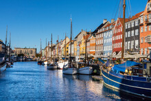 Nyhavn Water Front Canal And Touristic Street